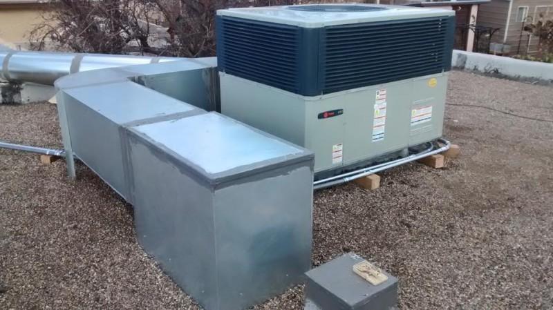 Install Of Trane Heat Pump Amp Duct Work Daniel S Heating