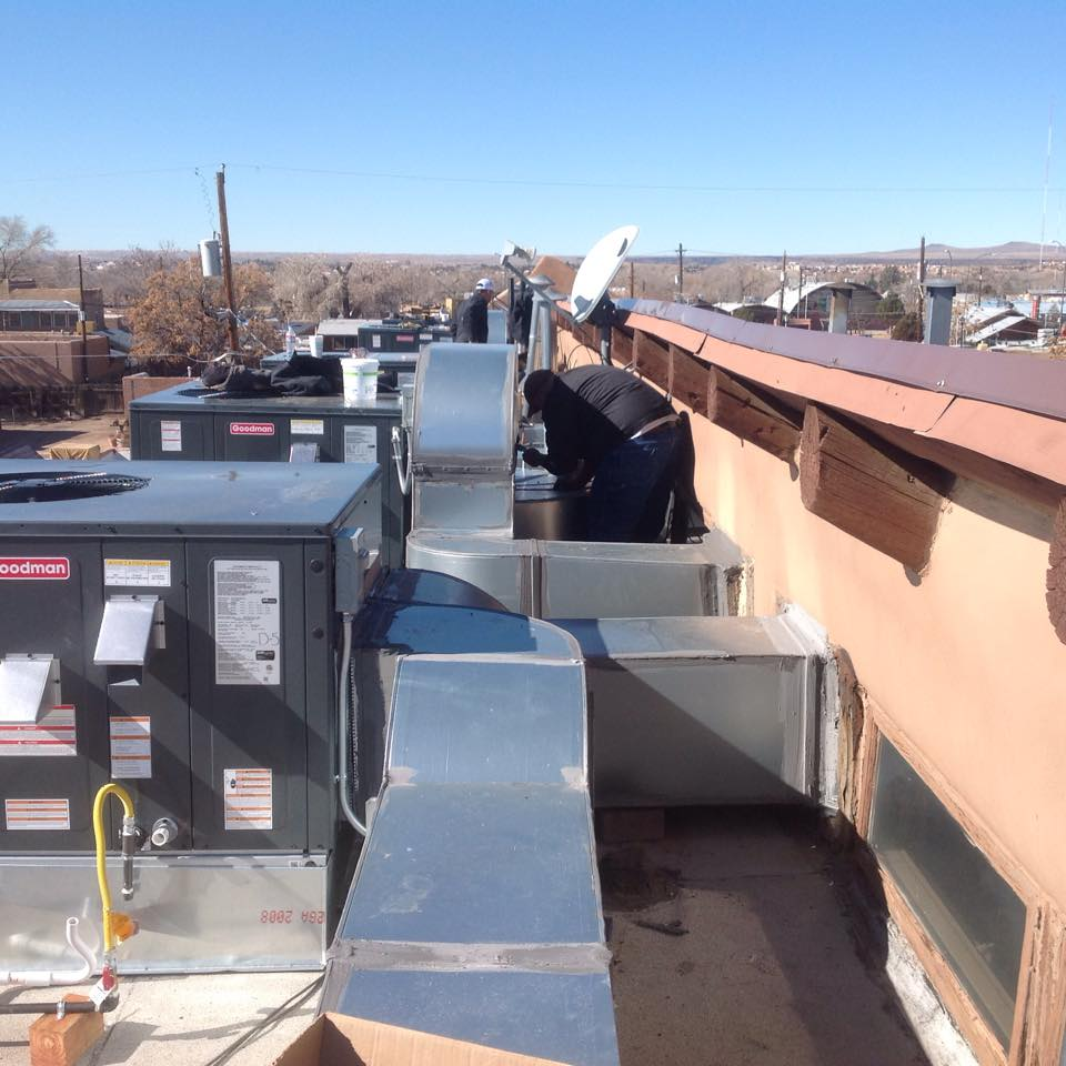 Installing 6 Rooftop Package Units Amp 6 New Gas Meters In