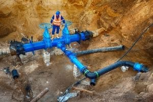 underground plumbing system