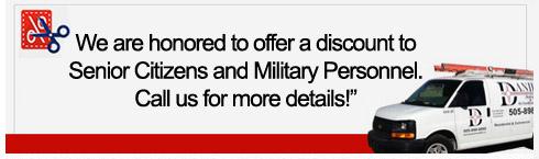 Senior Citizens & Military Discounts Albuquerque, NM